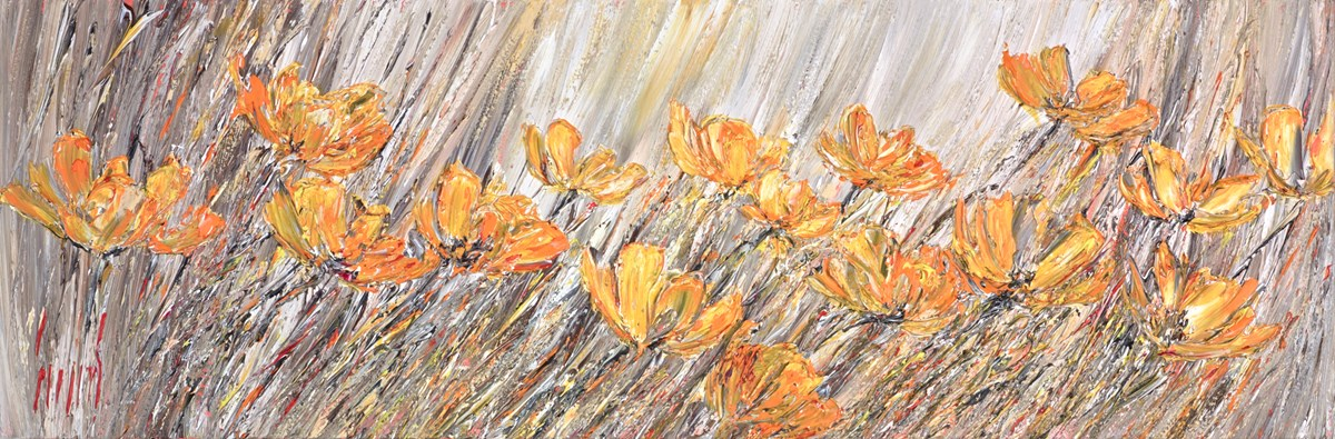 California Poppy I by carl scanes -  sized 47x16 inches. Available from Whitewall Galleries